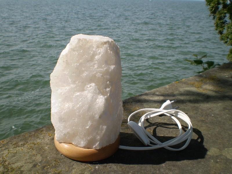 bergkristall lampe